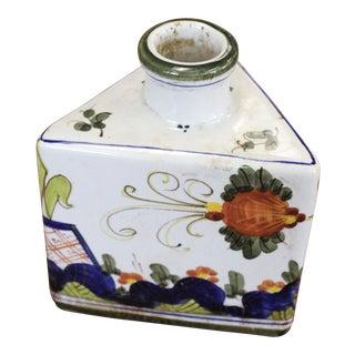 Vintage Boho Chic Triangle Vase For Sale