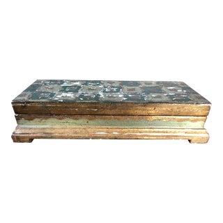 Vintage Florentine Green Gilt Jewelry Box