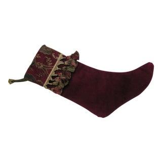 Handmade Velvet Christmas- Stocking