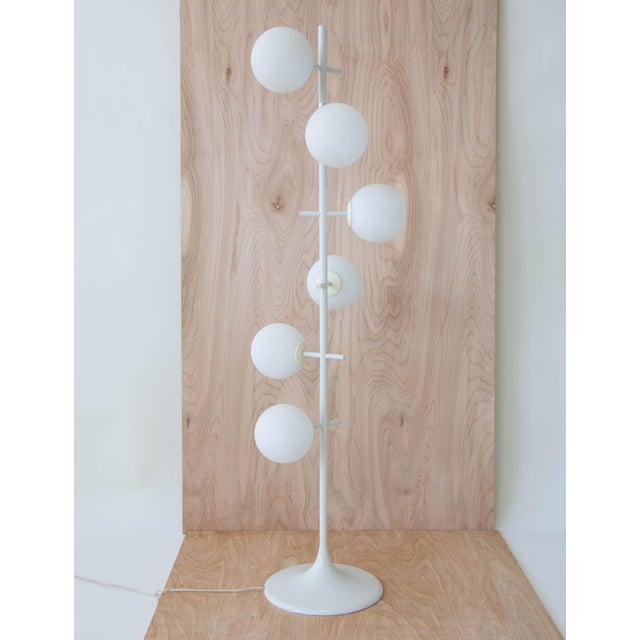 Mid-Century Modern Rare Temde Leuchten Frosted Globes Floor Lamp For Sale - Image 3 of 11
