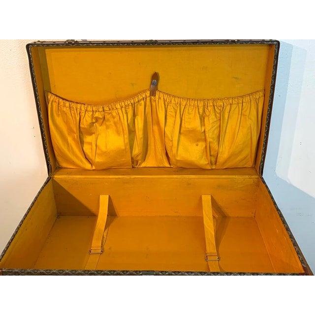 Vintage Goyard Hardcase Trunk on Iron Stand For Sale - Image 12 of 13