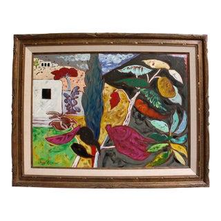 """Jacques Lamy """"Joy"""" Surreal Southwestern Landscape Painting For Sale"""