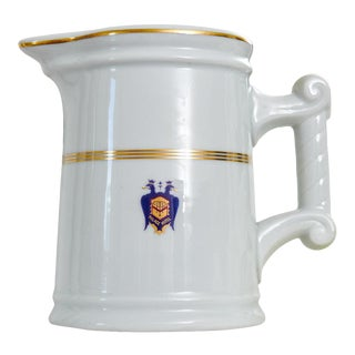 Large 1928 Palace Hotel San Francisco Porcelain Water Pitcher For Sale