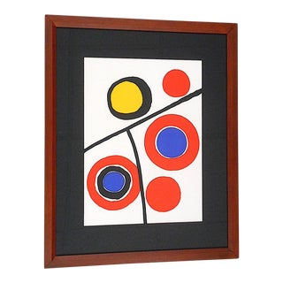 Vintage Mid 20th C. Ltd. Ed Lithograph From Derriere Le Miroir No. 201-1973-Alexander Calder For Sale