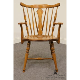 Late 20th Century Vintage Cushman Colonial Maple Dining Arm Chair Preview