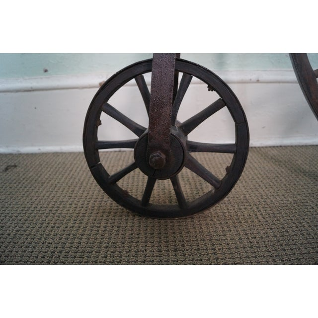 Antique Iron High Wheel Bicycle - Image 3 of 10
