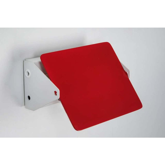 Charlotte Perriand Red Cp1 Wall Lights - a Pair For Sale In Los Angeles - Image 6 of 8