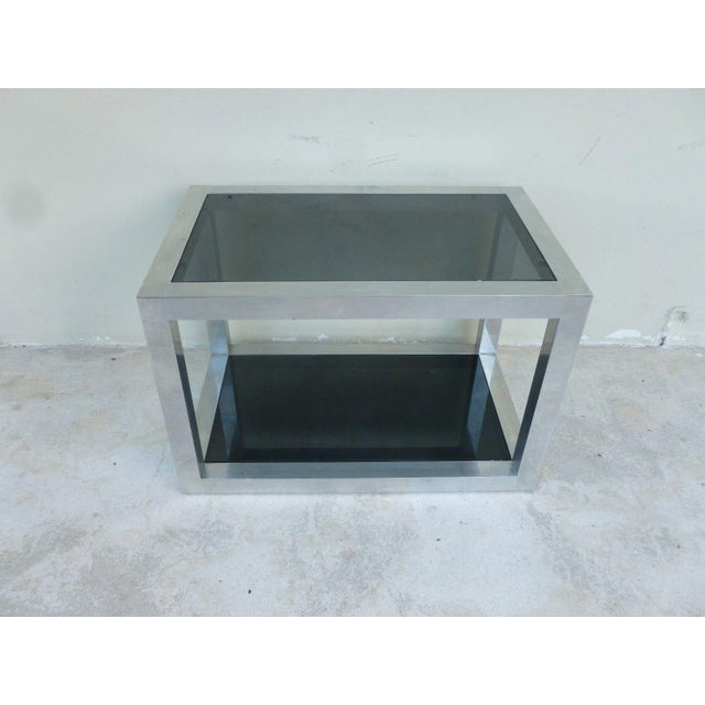 1970's Vintage Pace Style Aluminum Rectangular Table For Sale - Image 10 of 11
