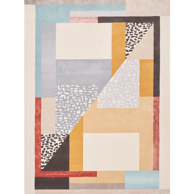 Early 21st Century Schumacher Patterson Flynn Martin Ratio Hand-Tufted Wool Silk Rug - 9' X 12' For Sale - Image 9 of 9