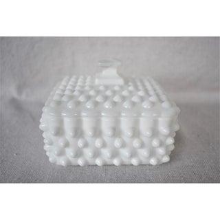 Vintage Lidded Hobnail Milk Glass Box Preview
