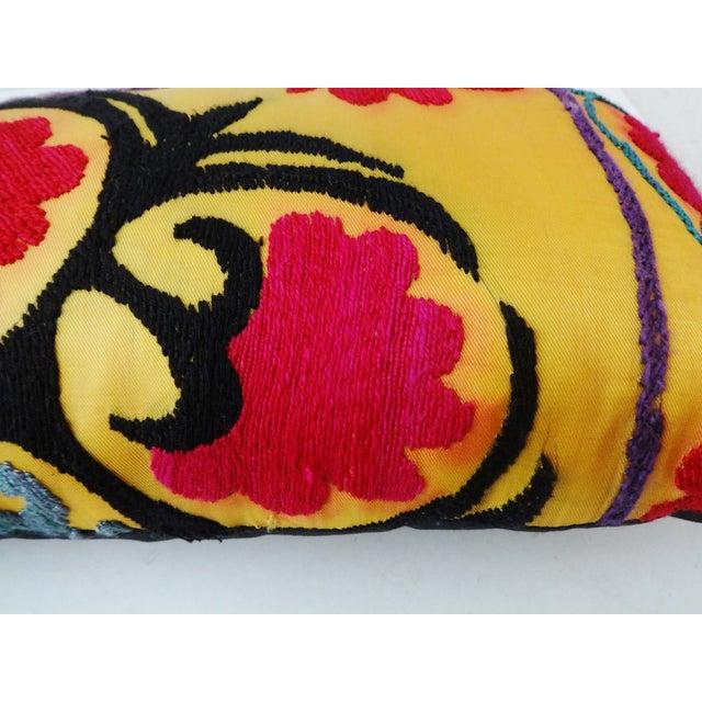 Antique Tribal Qashqa'i Fragment Lumbar Pillow - Image 4 of 8