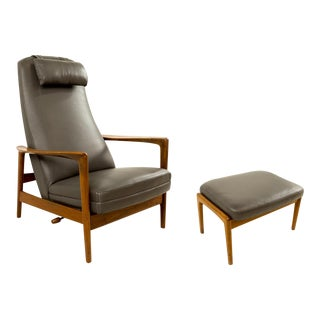 Folke Ohlsson for Dux Danis Reclining Lounge Chair & Ottoman