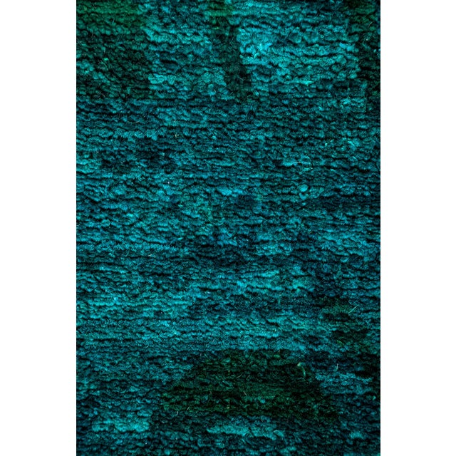 "New Blue Overdyed Hand-Knotted Rug - 6' 2"" X 6' 7"" - Image 3 of 3"