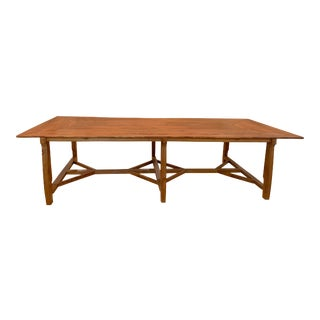 Antique French Pine Dining or Conference Table For Sale