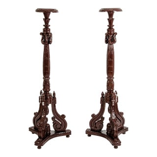 George III Style Torcheres / Pedestals - a Pair For Sale