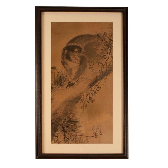 Circa 1820 Edo Period Japanese Ink on Paper Painting For Sale - Image 5 of 5