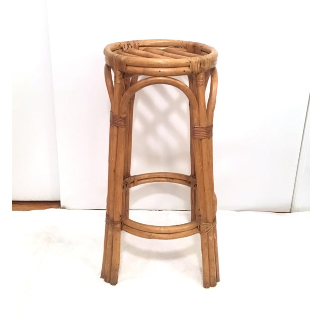 Vintage Rattan Stools or Plant Stands - a Pair For Sale - Image 5 of 7