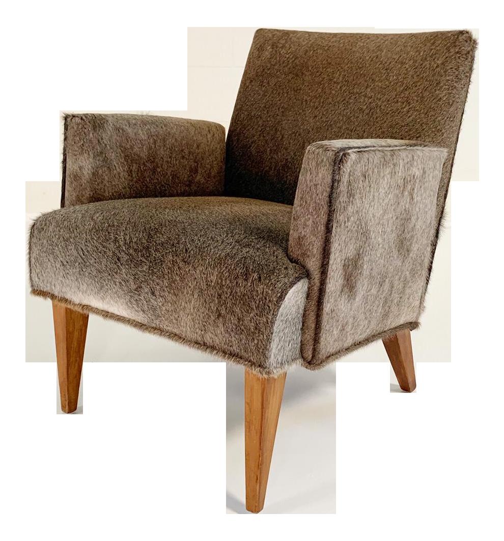 Modern Armchair In Brazilian Cowhide
