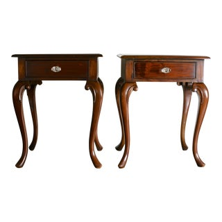 Queen Anne End Tables - A Pair