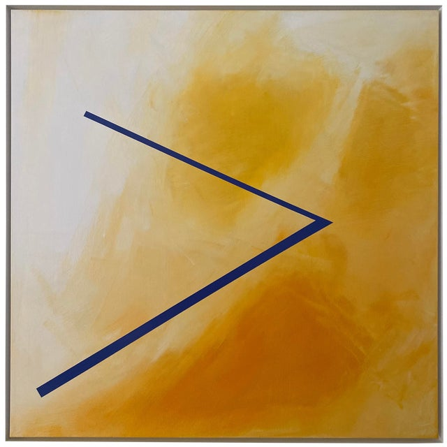 """Abstract Expressionist Axel Abbott Original Acrylic Painting """"Mood Lines Xiii"""" For Sale"""