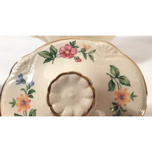 Homer Laughlin Floral Creamer and Sugar Bowl For Sale - Image 10 of 11