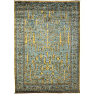 "Turkish Oushak Hand Knotted Area Rug - 6' 3"" X 8' 9"" For Sale"