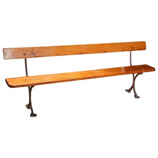 English Bench in Iron and Wood, Circa 1890 For Sale