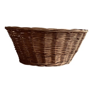 20th Century Rustic Shabby Chic Pillow Basket For Sale