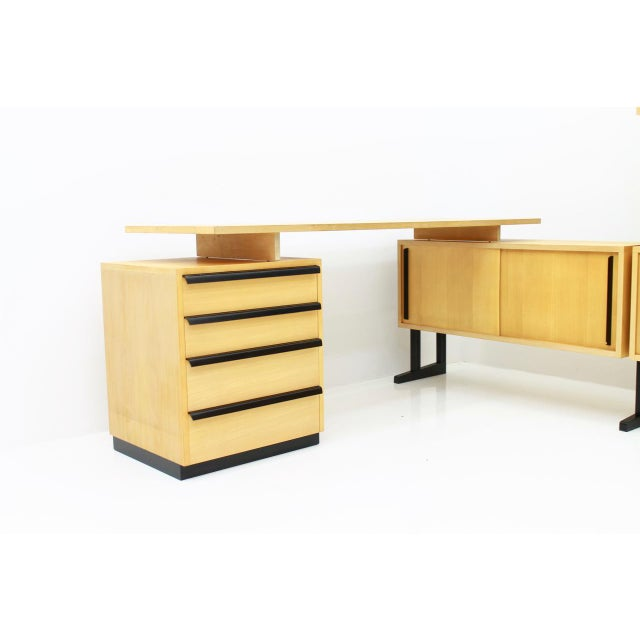 Very Rare Office With a Shelf and a Desk by Alfred Altherr, Switzerland, 1955 For Sale - Image 6 of 10