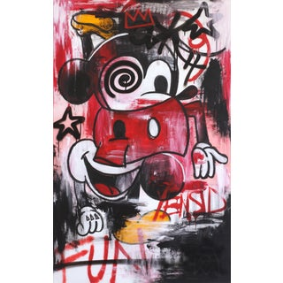 """Original Abstract """"Mouse King"""" Painting by Andrew Lyko For Sale"""