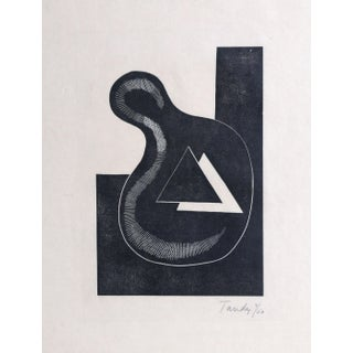 """John Tandy, """"Untitled 3"""", Abstract Woodcut For Sale"""