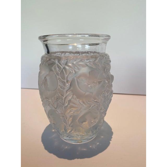 Art Deco Lalique Bagatelle Vase Clear Crystal For Sale - Image 3 of 6