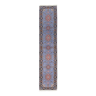 """Isfahan, Hand Knotted Persian Runner - 2' 9"""" X 13' 9"""" For Sale"""