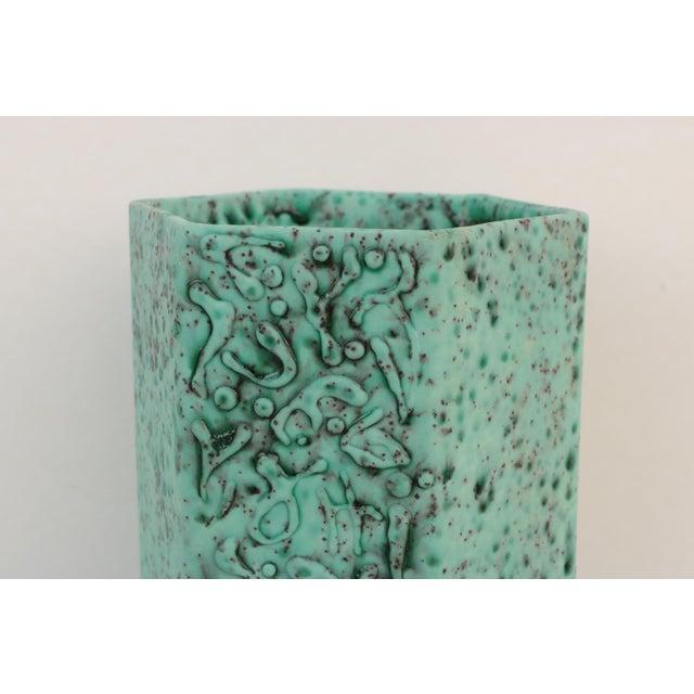Sea Green Lava Foam Mid Century Vase For Sale - Image 4 of 11