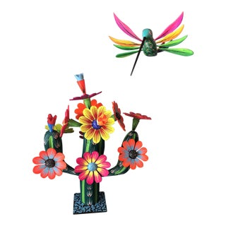 Mexican Hand Carved Alebrijes - a Pair For Sale