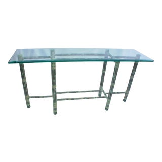 Vintage Asian Modern McGuire Console Table For Sale