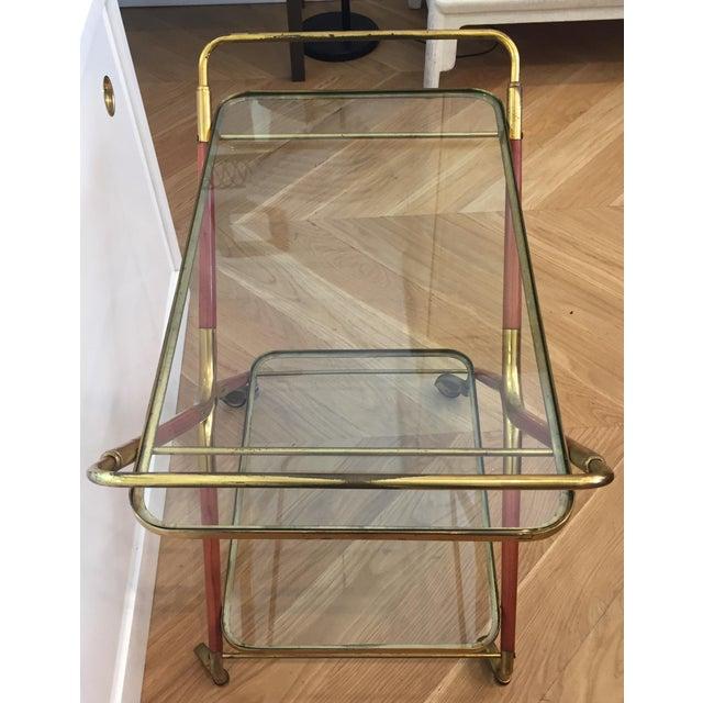 Mid-Century Modern 1950s Italian Cesare Lacca Bar Cart Server For Sale - Image 3 of 11