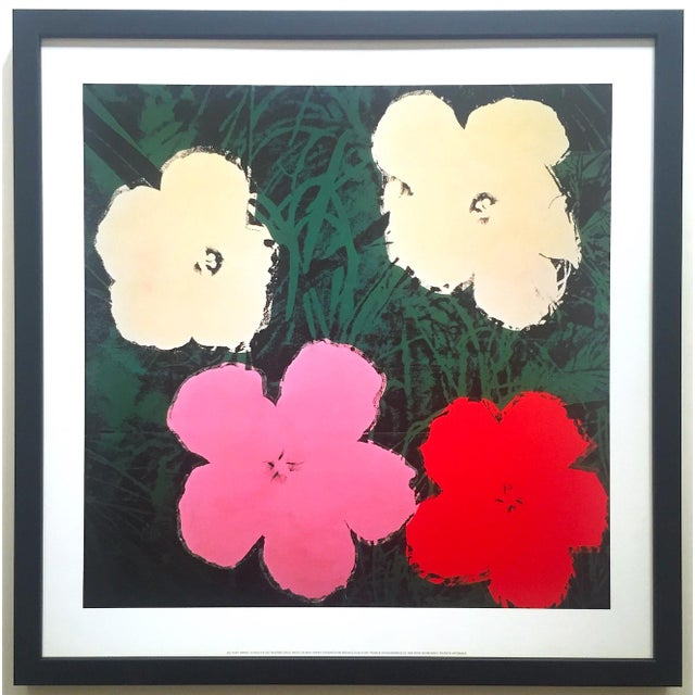 """Andy Warhol Foundation Vintage Lithograph Print Framed Pop Art Poster """" Flowers III """" 1964 For Sale - Image 13 of 13"""
