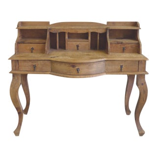 20th Century French Country Pine Desk