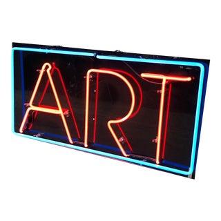 "Late 20th Century Custom Neon ""Art"" Sign For Sale"