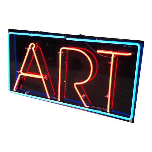 "Vintage Custom Neon ""Art"" Sign For Sale"