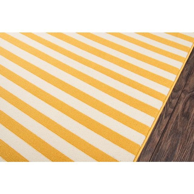 "Modern Momeni Baja Yellow Indoor/Outdoor Rug - 7'10"" X 10'10"" For Sale - Image 3 of 6"