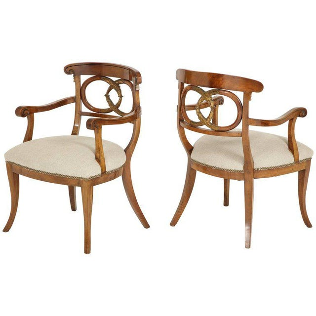 Pair of Biedermeyer Armchairs For Sale - Image 10 of 10