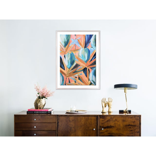 Contemporary Lyford 2 by Lulu DK in White Wash Framed Paper, Medium Art Print For Sale - Image 3 of 4
