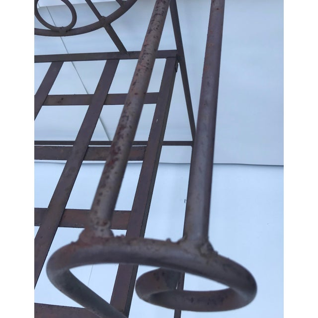 Mid-Century Modern 1960s Retro Modern Whimsical Figurative Steel Bench For Sale - Image 3 of 13