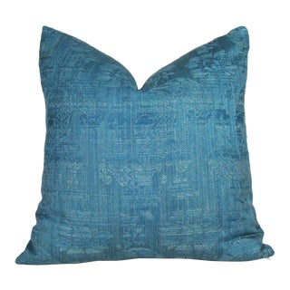Antique 18th Century French Chateau Curtain Pillow Cover For Sale