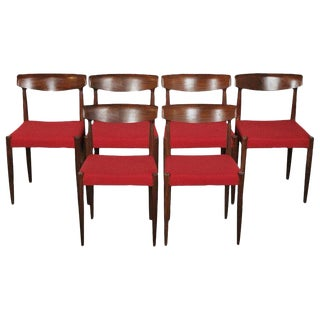 Mid Century Afromosia by Knud Faerch for Slagelse Dining Chairs- Set of 6 For Sale