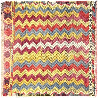 "Nalbandian - 1960s Turkish Geometrical Kilim - 2'8"" X 2'6"" For Sale"