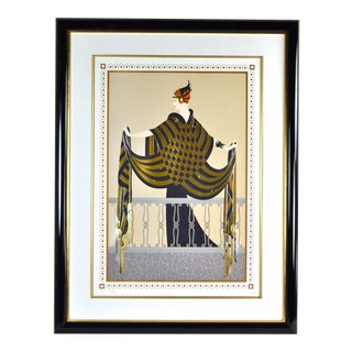 """Erte """"The Balcony"""" Art Deco Flapper Artist's Proof Limited Edition Serigraph For Sale"""