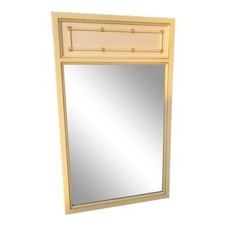 Chinoiserie Hollywood Regency Mid Century Faux Bamboo Mirror For Sale